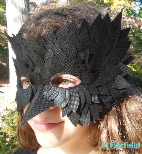 OlyFun Black Bird Mask – Fairfield World Bastelprojekte – Creative with kids