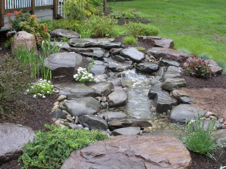 Stream want to do something like this in backyard for Garden pond do you need a pump