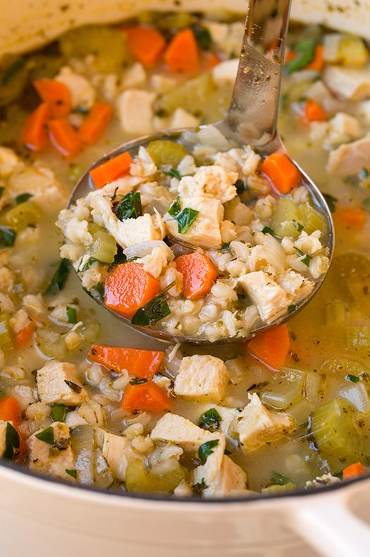 Chicken and Barley Soup | Cooking Classy