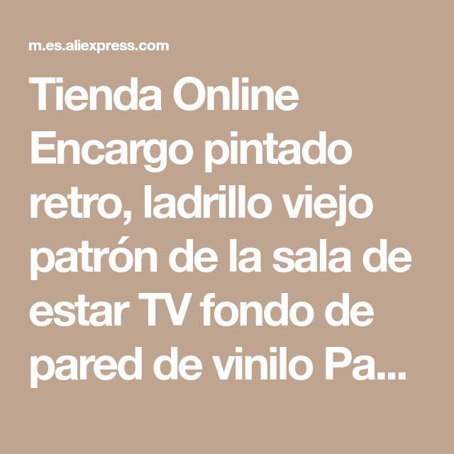 Tienda Online Encargo pintado retro, ladrillo viejo patrón de la sala de estar TV fondo de pared de vinilo Papel pintado Papel hall de parede | Aliexpress móvil