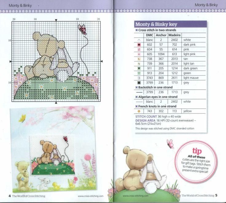 Gallery.ru / Фото #47 - The world of cross stitching 186 + Springtime card cuties - tymannost