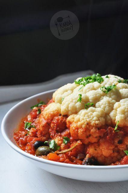 Kardamonovy: Kalafior gotowany w sosie pomidorowym
