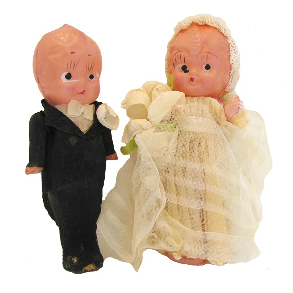 Kewpie Bisque Wedding Cake Toppers