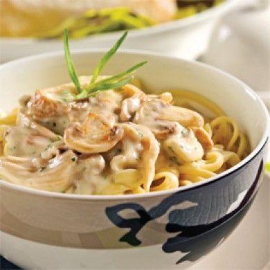 Linguines, sauce aux champignons - Soupers de semaine - Recettes 5-15 - Recettes express 5/15 - Pratico Pratique