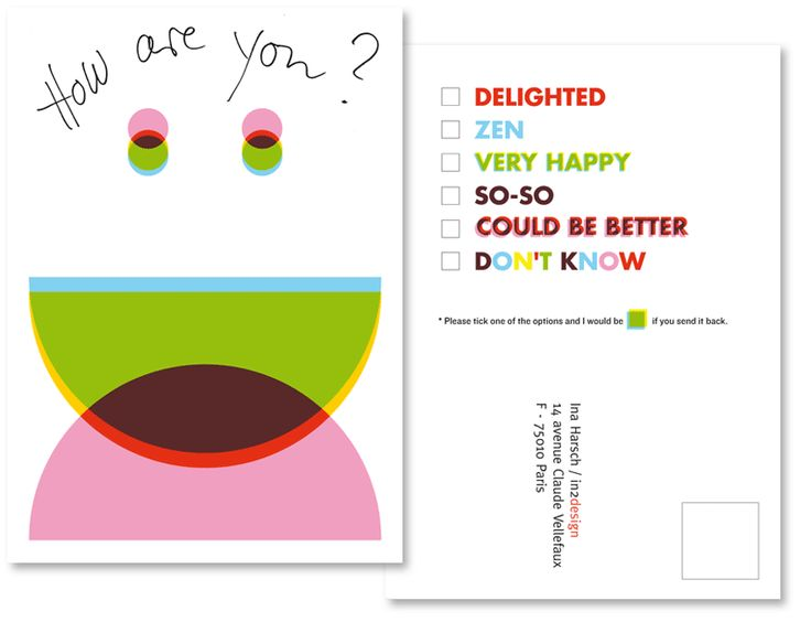 "Promotional card ""How are you?"" © intwodesign"