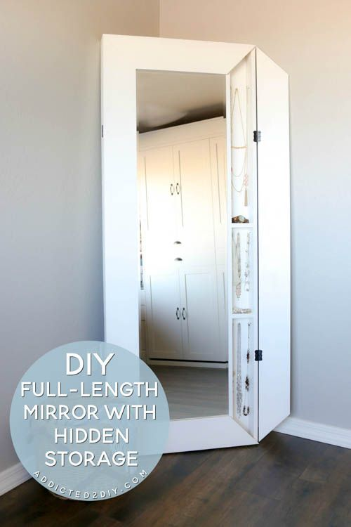 Diy Full Length Mirror With Hidden Storage Bedroom Diy