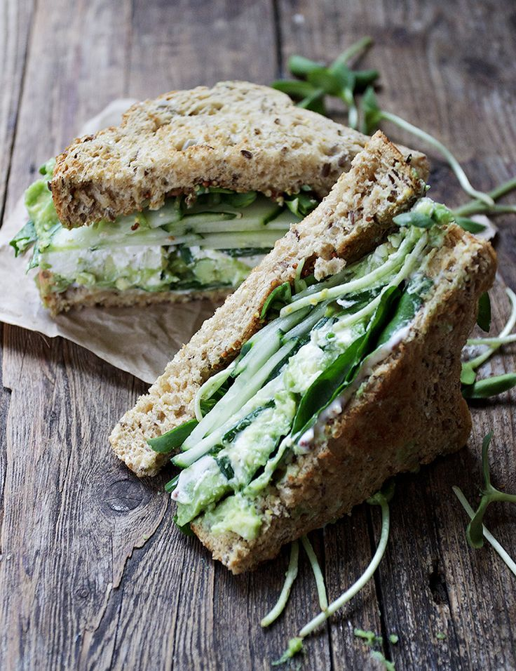 14. Green Goddess Sandwiches #high #fiber #recipes…