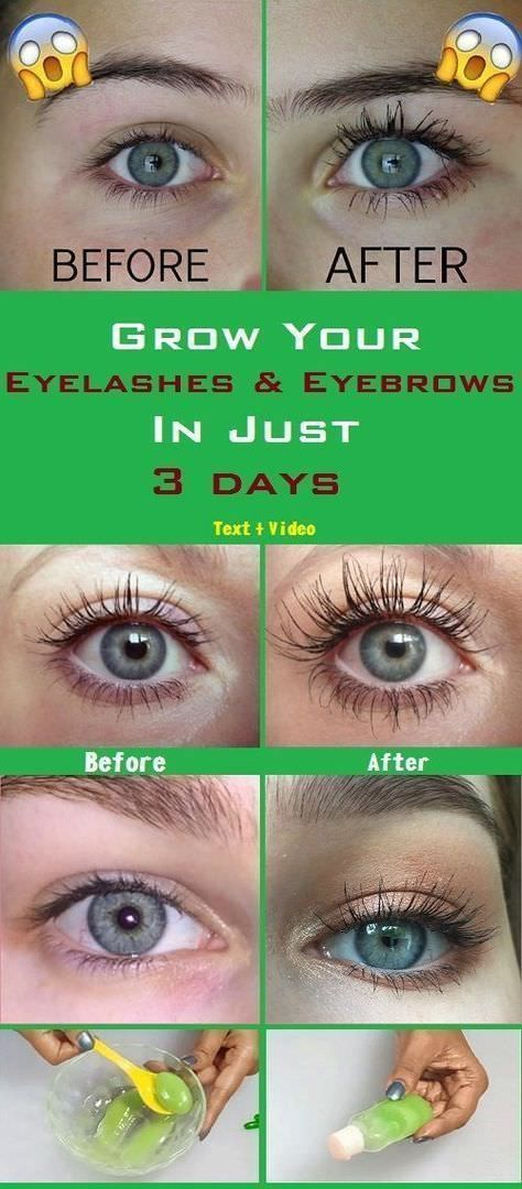 Grow Your Eyelashes Eyebrows In Just 3 Days Eyelash And Eyebrow