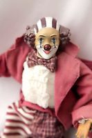 vintage large clown doll figurine hand painted ceramic face