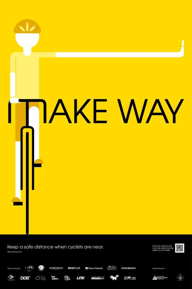 bicyclestore:  Take Away 'Share the Road' campaign. Email at info@life-cycle.co for the hi-res posters.