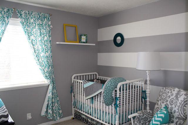 Grey White Turquoise Nursery On Lacy Crew