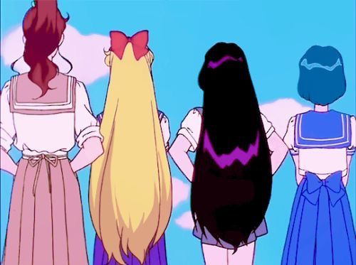 Sailor scouts Lita, Mina, Rei, Ami