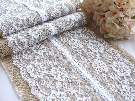Pure White Lace Table Runner Wedding Lace Runner By HotCocoaDesign