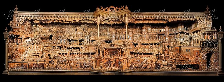Amazing mechanical Christmas crib from Trebechovice, Czech republic. Main view