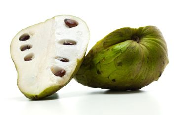 """Cherimoya, fruit native to South America and also referred to as a """"custard apple."""" Described by Mark Twain as """"deliciousness itself."""" A ripe cherimoya blends flavours of pineapple and banana #exotic #quotes #places"""
