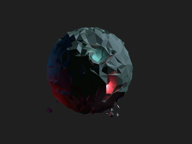 A new planet I animated with some rocks flying around it, this one is going fast!