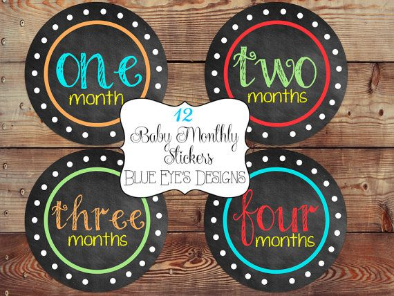 Baby Monthly StickerBaby Month Milestone by blueeyesdesigns27, $12.00
