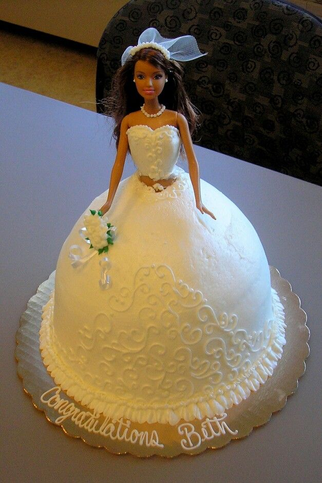 wedding dress cake 17 best images about doll cakes bridal on 9196