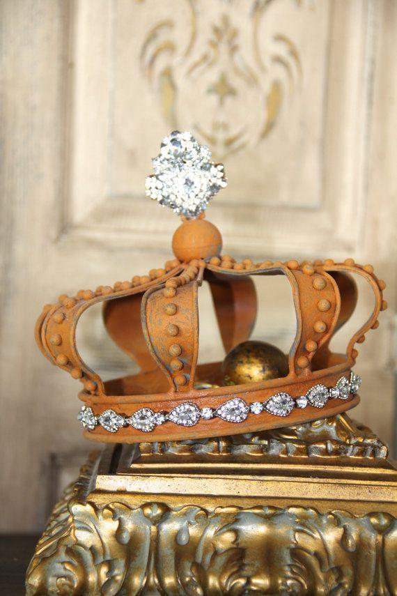 Metalen kroon roestige kroon kroon decor shabby chique