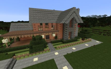 Suburban Brick Home Minecraft Houses Pinterest
