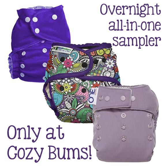 Cozy Bums Overnight All-in-One Sampler Bumdle - Cloth Diapers Canada