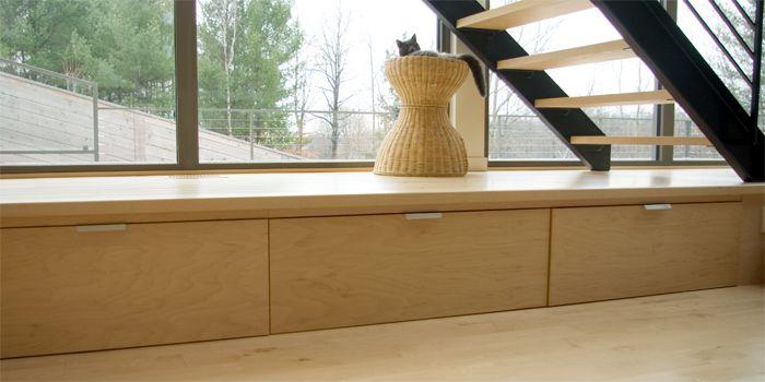 Plancher en érable verni mat | Plancher et escalier Armand Malo inc | Vernis Carver.  www.boismalo.com