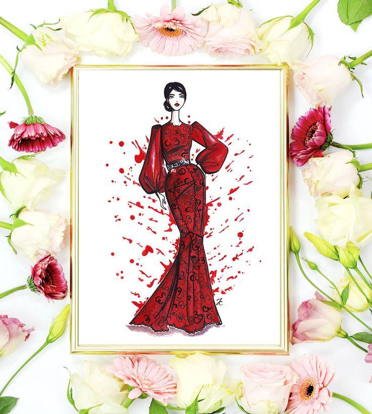 Dolce Gabbana Dolce Gabbana girl fashion print от DollMemoriesArt