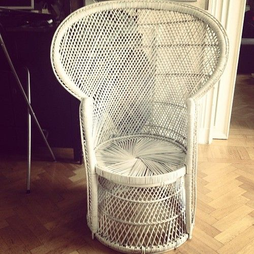my fiancee has bought a vintage wicker chair like the one in the addams family tv show