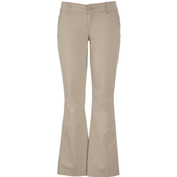 maurices Chino Pant In Khaki ($39) ❤ liked on Polyvore featuring pants, bottoms, khaki, womens plus size pants, brown chino pants, cotton pants, brown pants and zip pants