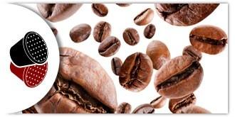 Una esplosione di gusto in Capsule Compatibili con le Macchinette Nespresso. Miscele: Intenso e Delicato.