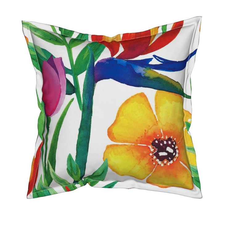 Serama Throw Pillow featuring Tropical Jungle (Medium) by jessmorris | Roostery Home Decor