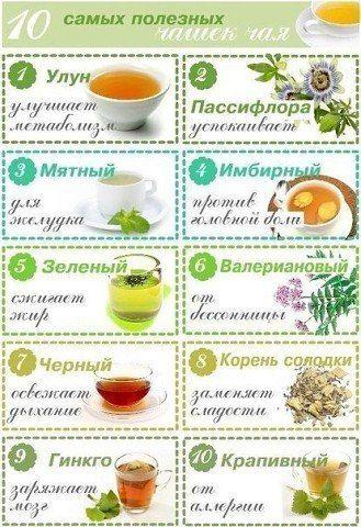 Самые полезные чаи
