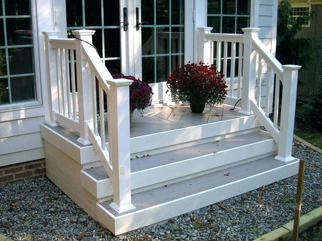 Sliding Door Landing Stairs Google Search Front Porch Steps Front Porch Railings Porch Stairs