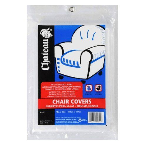 """Uboxes Set of 2 (72x46"""") Chair Covers 2 MIL Heavy Duty Polyethylene to Protect Items From Dust Dirt and Spills"""