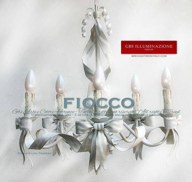 Fiocco, Lampadario a 5 Luci  GBS. Made in Florenze. All rights ...