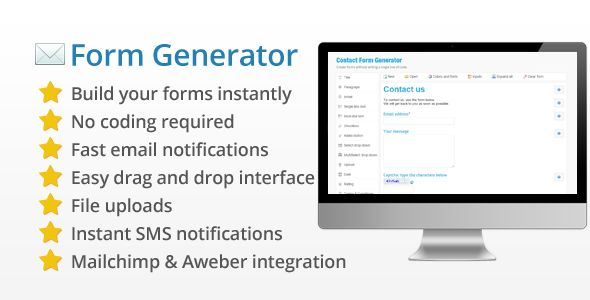 Contact Form Generator v2.6 - Easy / Powerful Form Builder - https://codeholder.net/item/php-scripts/contact-form-generator-form-builder