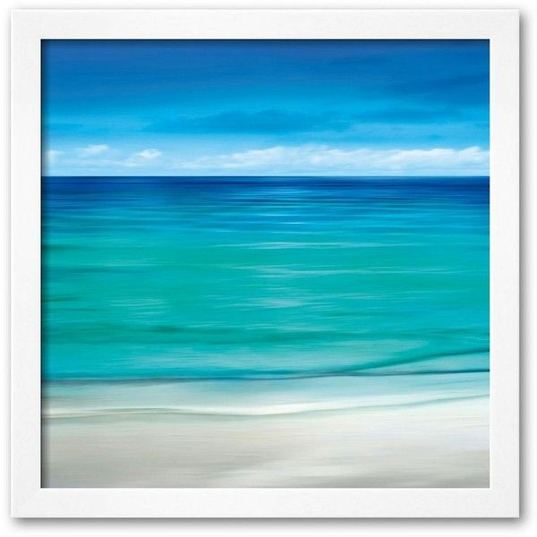 Art.com ''Paradise Ii'' Framed Art Print by Jennifer Bailey (Soho... ($167) ❤ liked on Polyvore featuring home, home decor, wall art, backgrounds, beach, soho white, wooden home decor, framed wall art, white wall art and wooden wall art