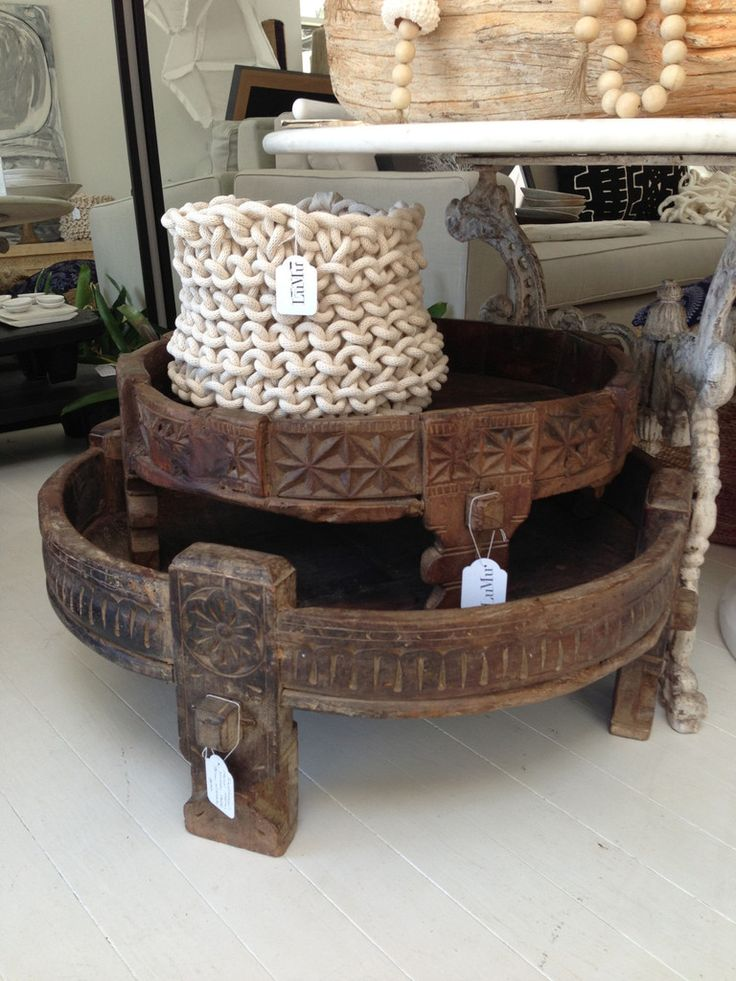 Traditional Round Indian Grinder Tables | LuMu Interiors