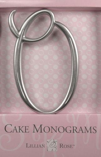 O Monogram Wedding Cake Topper by Lillian Rose Large Silver