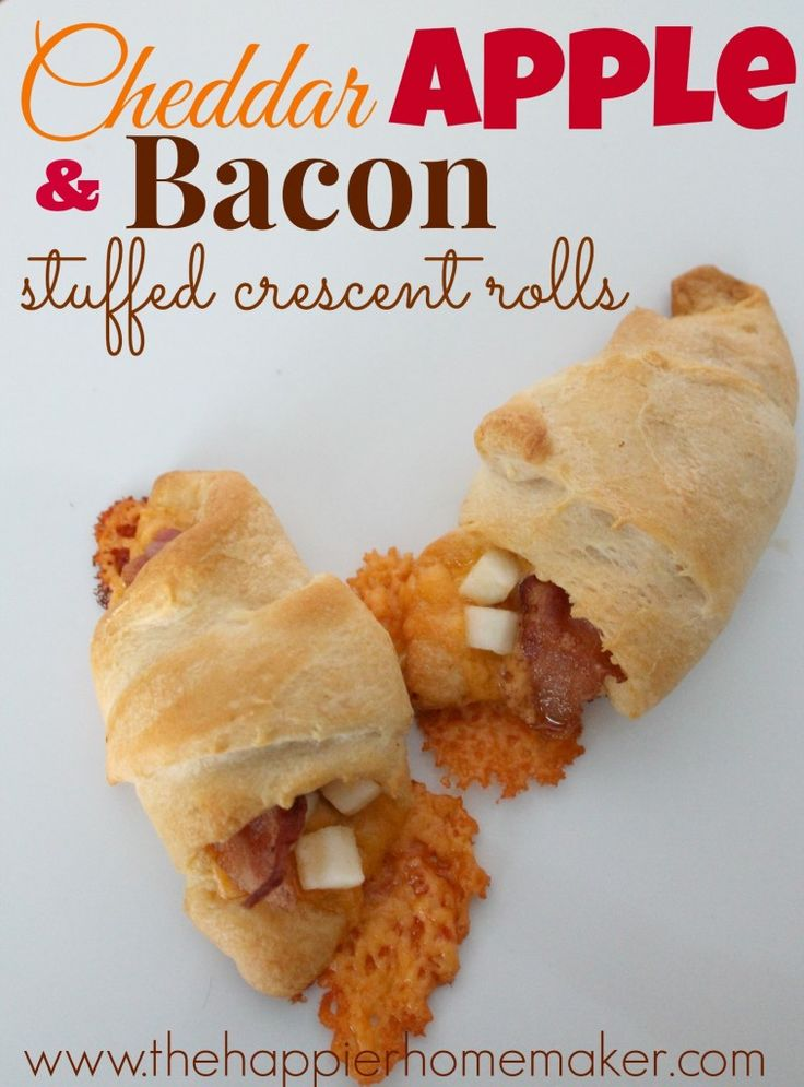 Cheddar Apple Bacon Crescent Rolls perfect appetizer for the Super Bowl