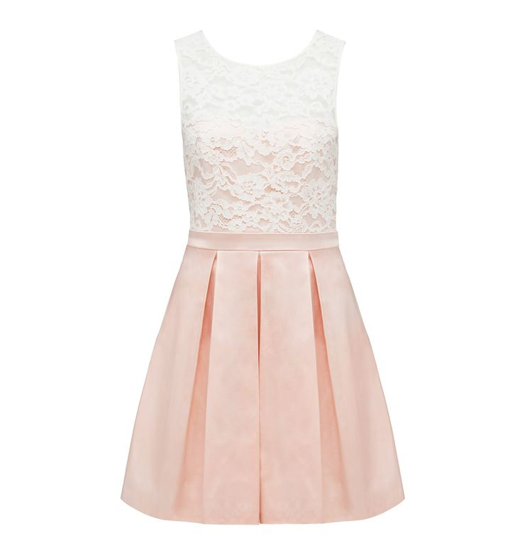 Carly Lace Overlay Dress - Forever New