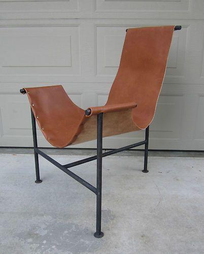 Max Gottschalk Laverne Katavolos Leather Lounge Chair Steel