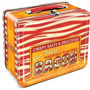 Aquarius Bacon Tin Lunch Box