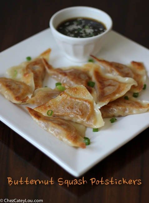 Butternut Squash Potstickers with Sriracha Ginger DippingSauce