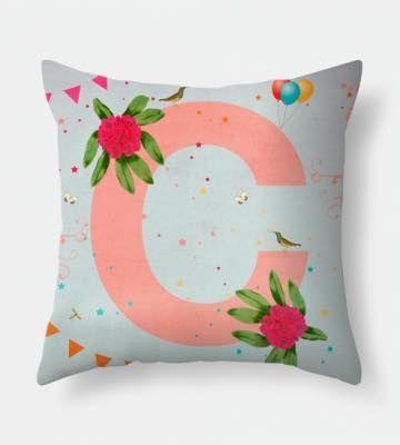 Letter C pillow