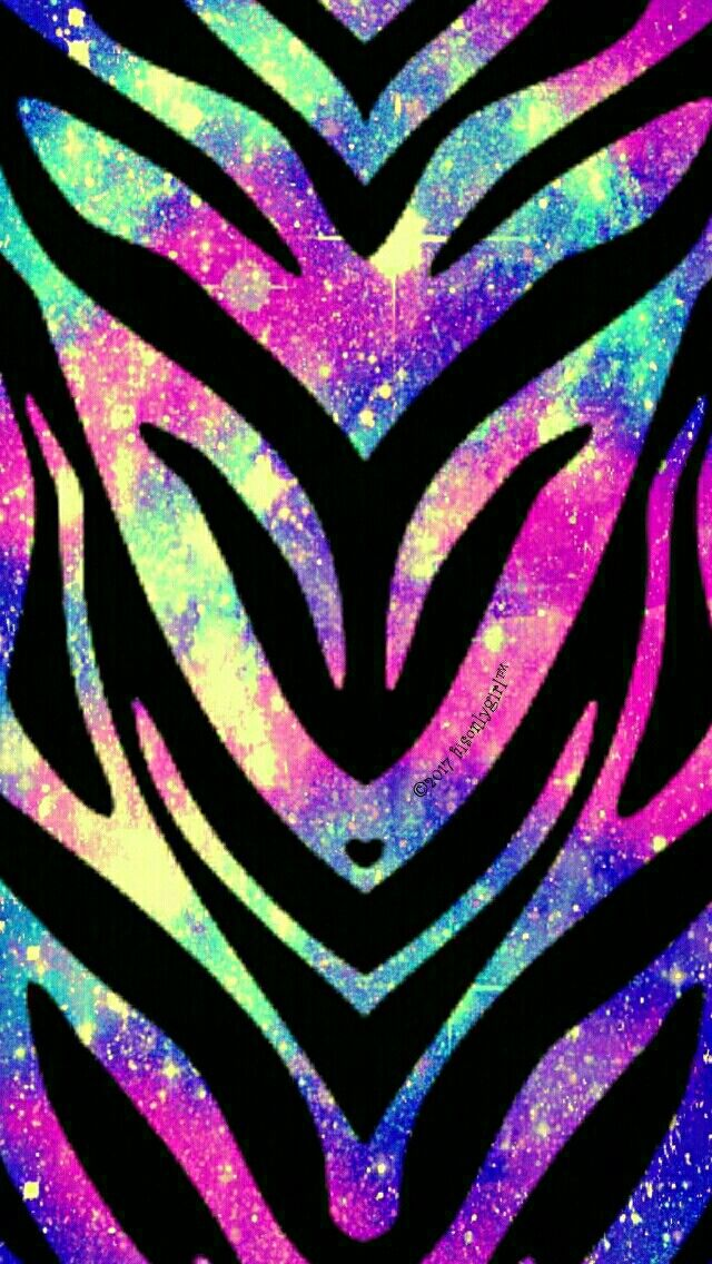 Colorful rainbow zebra galaxy iPhone/Android wallpaper I created for the app CocoPPa!