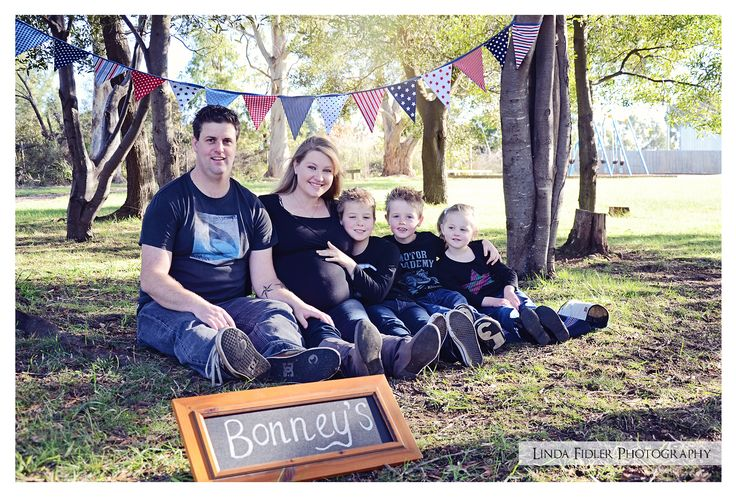 Maternity - Family Photography Personally made bunting for this shoot