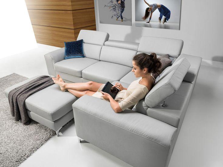 Beautiful Details zu Sofa Couchgarnitur Couch GENOVA CORNER Polsterecke Wohnlandschaft