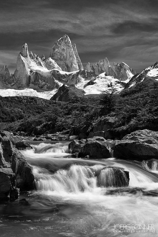 Fitz Roy in BlackWhite
