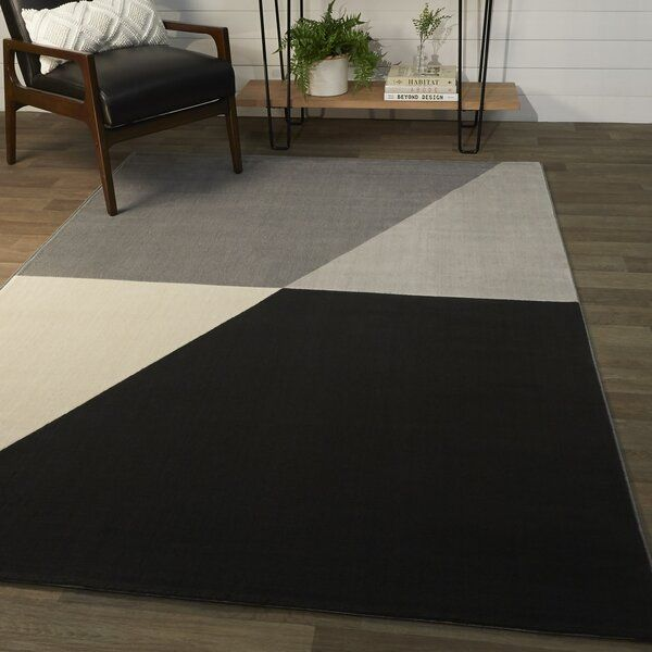 Wrought Studio Anacortes Geometric Gray Black Cream Area Rug Reviews Wayfair Area Rugs Indoor Area Rugs Rugs